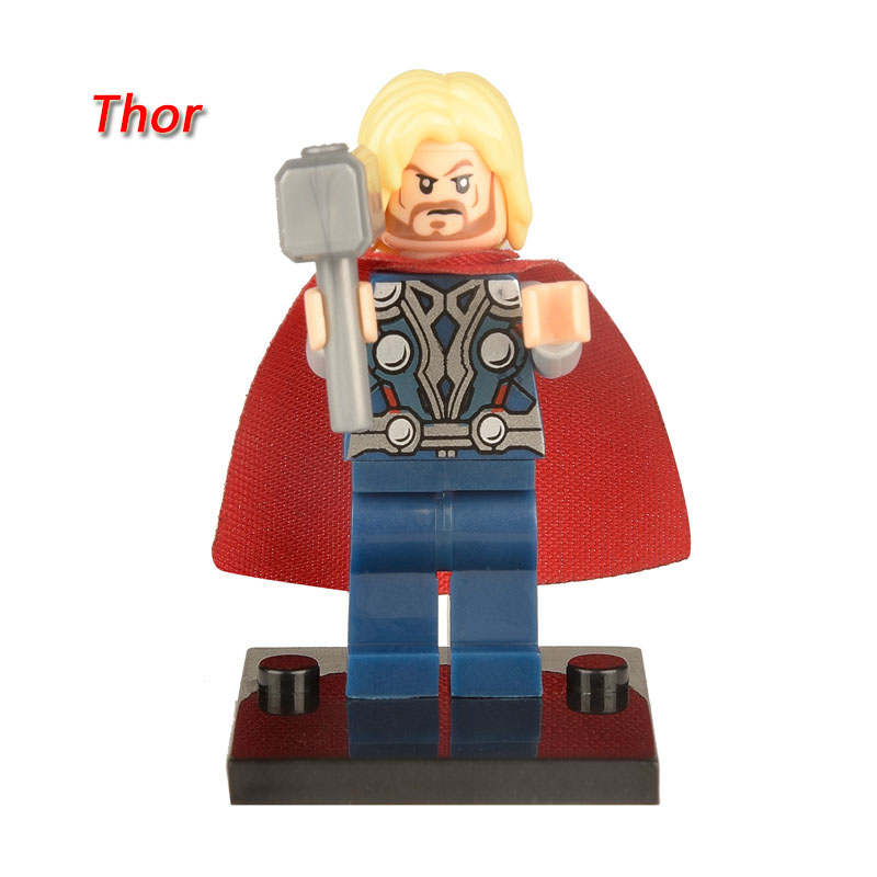 XINH004 Thor figure Marvel Super Heroes The Avengers Building Block Sets Model Bricks Toys For Children