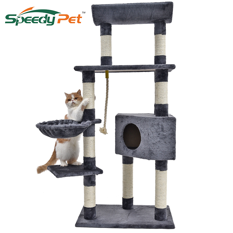 Cat Tree House For Cat Furniture&Scratchers Scratching Posts For Cats Pet Sleeping Bag Cat Climbing Frames Kitten HouseCat tree