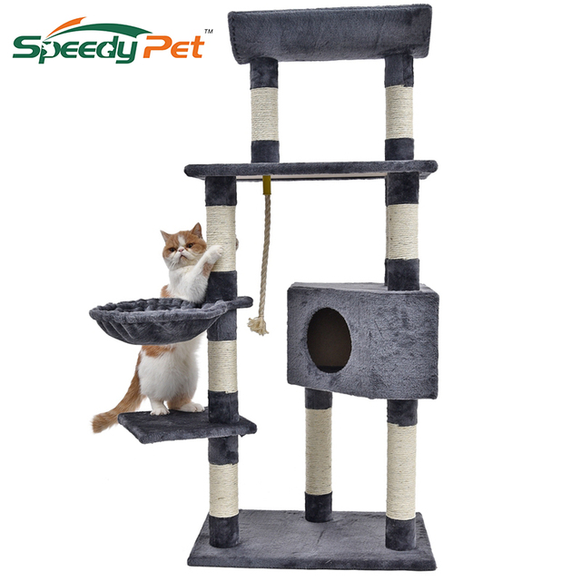 Cat Tree House For Cat Furniture&Scratchers Scratching Posts For ...
