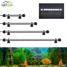 IP67 Waterproof Aquarium LED Light Fish Tank White 19/28/38/48CM Bar Strip Lamp EU/US/UK Plug Lighting