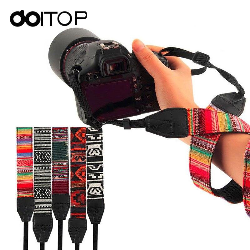 DOITOP for DSLR Camera Shoulder Neck Strap Vintage Style Canvas Camera Shoulder Neck Strap Belt for Nikon for Canon for Sony A3
