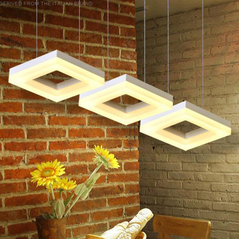 3-6 pcs square led home lighting Modern office Led commercial lighting Dining room Cafe light luminaria Art industrial lighting