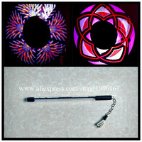 New Design Programmable 60 Led Pixels Visual Poi Full Color Lamp LED Stick Nunchuck USB Graphic