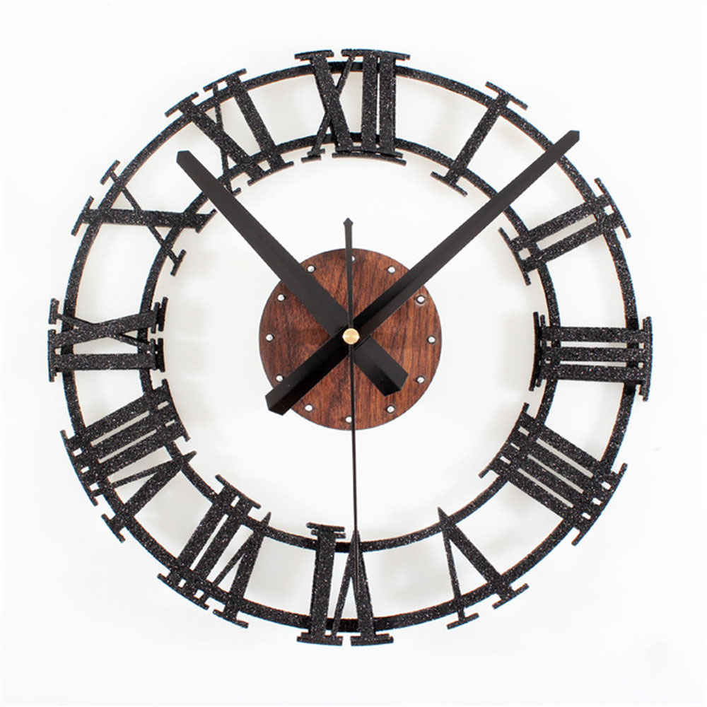 Industrial Wall Clock Vintage Art Design Roman Number Stereoscoptic Needle Wall Clocks For Living Room Home Decoration 3D Retro