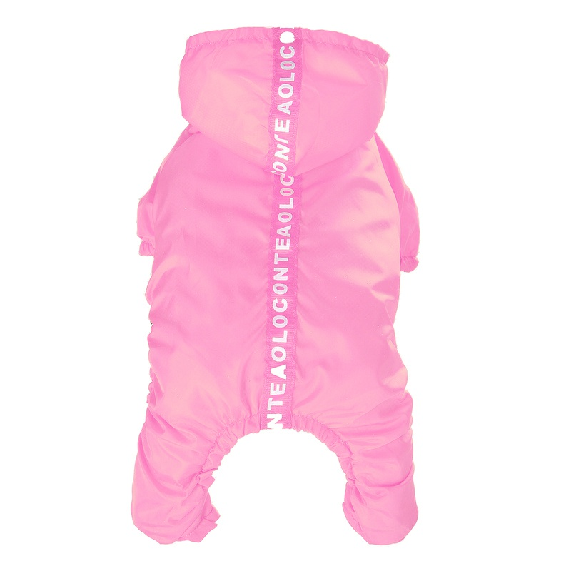 Small Dog Raincoat Waterproof Hooded Dog Clothes Four-Legged Poncho Rain Jacket Safety Jumpsuits Pet Clothing Apparel