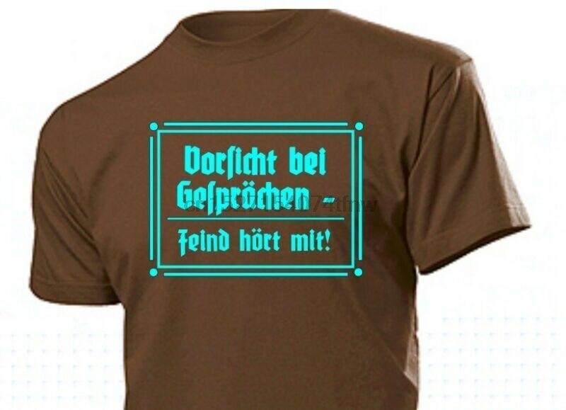 T-shirt Vorsicht Bei Gesprchen Feind Hort Mit Gr S-xxl Wh Wk2 Wehrmacht #2 Agreeable Sweetness Men's Clothing T-shirts