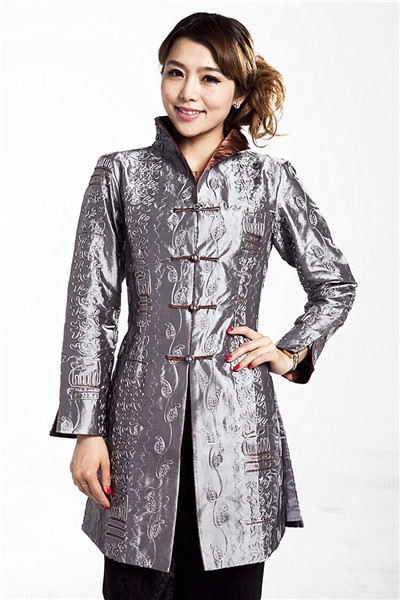 Basic Jackets Collection Here Hottest Chinese Style Lady Silk Satin Overcoat Vintage Turn-down Collar Jacket Single Button Coat Tang Suit Size S To 4xl Wide Varieties Jackets & Coats
