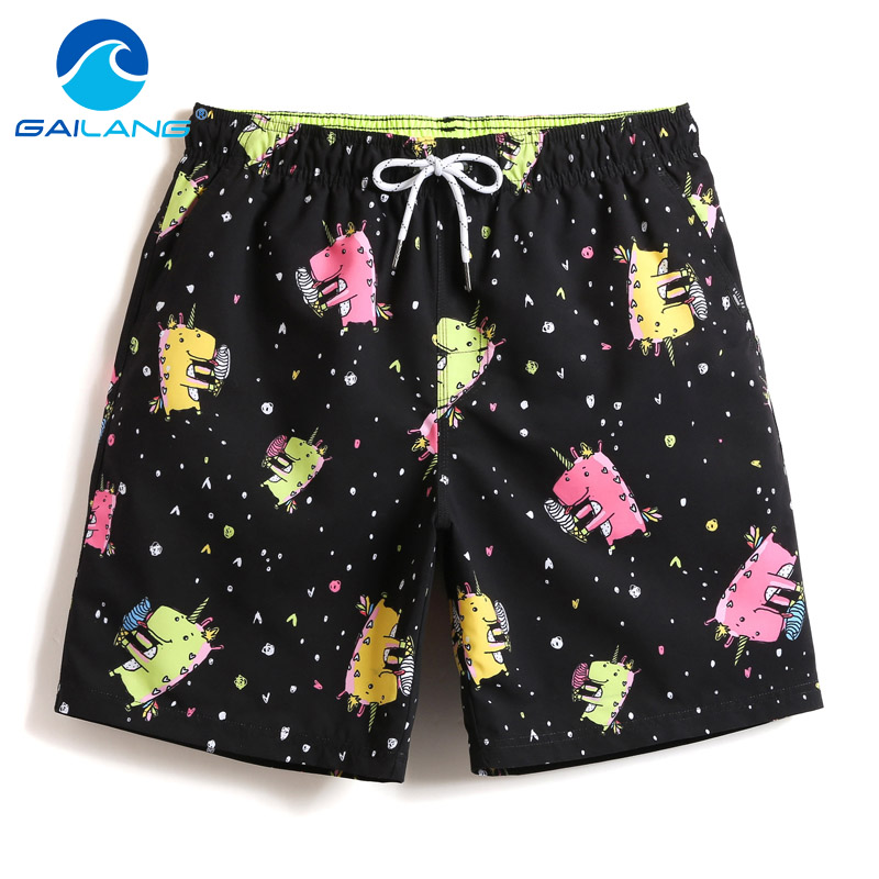 Gailang Brand Men's Beach   Shorts     Board   Boxer Trunks   Shorts     Short   Bottom Quick Drying Bermuda Swimwear for Men Swimsuits Summer