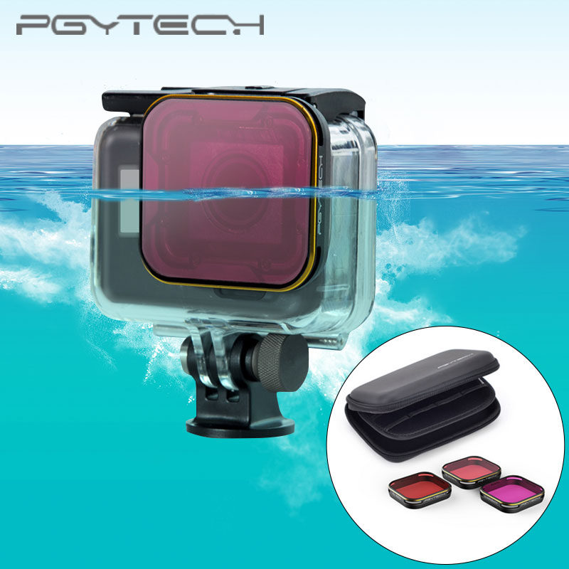 PGYTECH Diving Filter housing version for GoPro Hero 5 Super Suit housing exclusive red filter For