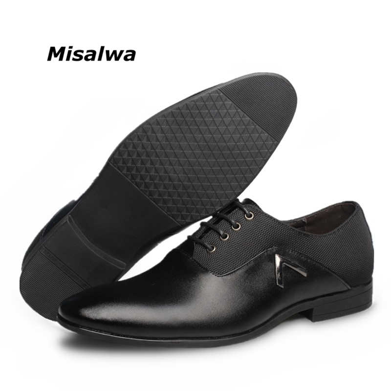 2019 zapatos de cuero formales para hombres, vestido de marca de calidad, zapatos Oxford, zapatos de oficina para hombre, talla 6-12 envío de la gota