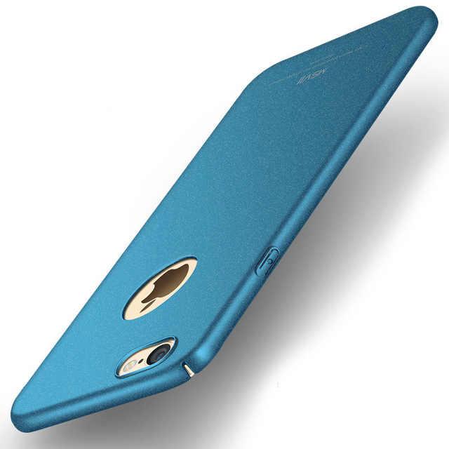 100% Оригинальный MSVII бренд Роскошный чехол для apple iphone 6s для iphone 6 Жесткий ПК простой и Матовый задняя крышка в наличии
