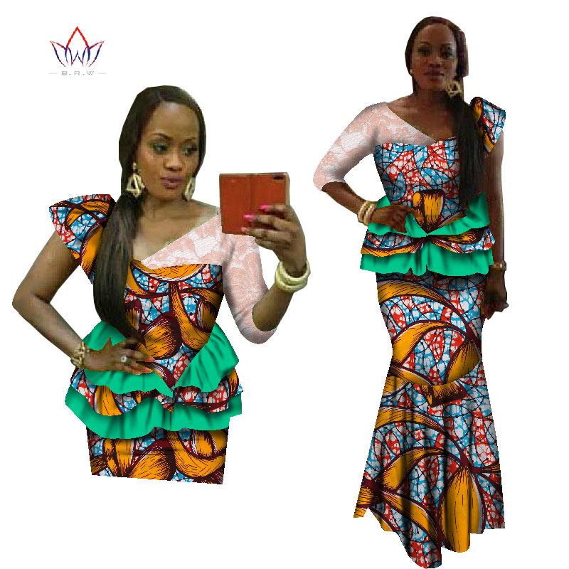 b160e1635449 Best Seller BRW african dresses for women traditional african 2 pieces set  kanga clothing robe africaine femme 2017 plas size 6XL WY1827 For Sale at  ...
