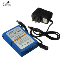 Cncool High Quality DC1230 12V 3000mAh Li-ion Rechargeable Battery Pack with US/EU Plug Lithium  Camera Batteries Bateria