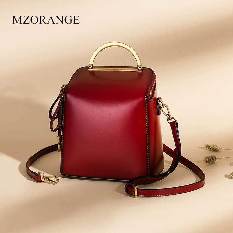2018 New Women Leather Backpack Fashion School Bag Retro Ladies Work BackPack Korean version Small Backpacks For Teenage Girls hmily 2018 new leather women s bags personalized ladies bag metal stamp accessory backpack korean style wave backpacks