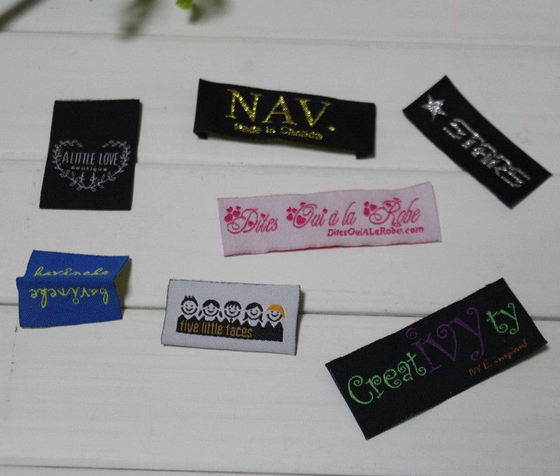 Woven Clothing Labels Private Logo