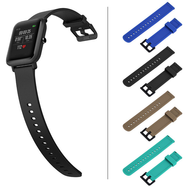 Soft Silicagel Wrist Strap Band For Xiaomi Huami Amazfit Bip Youth Watch Belt St
