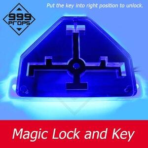 999 adereços chave mágica e bloqueio prop vida real quarto escape colocar a chave em bloqueio para abrir porta câmara jogo adereços