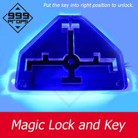 999PROPS Magic Key and Lock Prop Real life room escape put the key into lock to open door Chamber game props