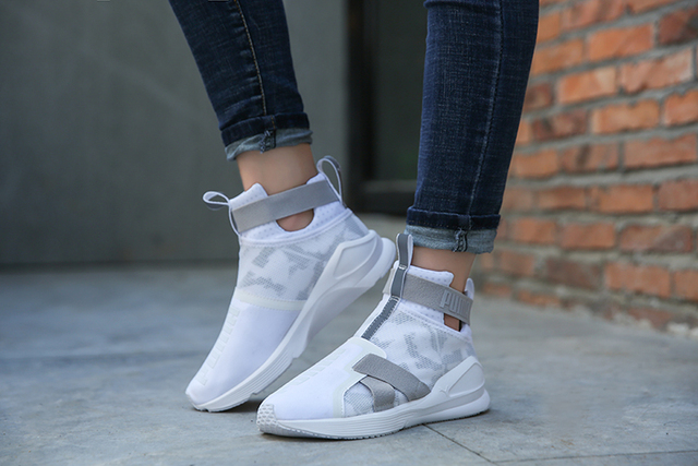 2018 New Original PUMA Rihanna Fierce Strap Swan Women s Sneakers Suede  Satin Badminton Shoes size36-41 68d579e86