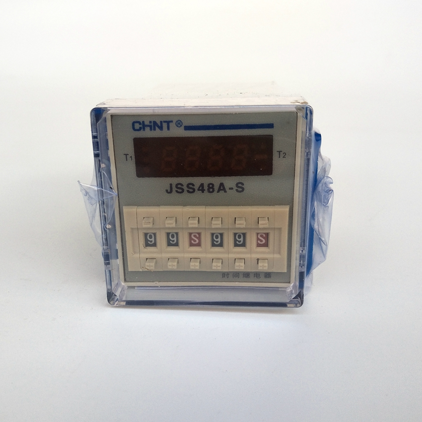 CHINT Time Relay JSS48A-S(DH48S-S) AC220V ,DC24V  Digital Time Relay hhs6a correct time countdown intelligence number show time relay bring power failure memory ac220v