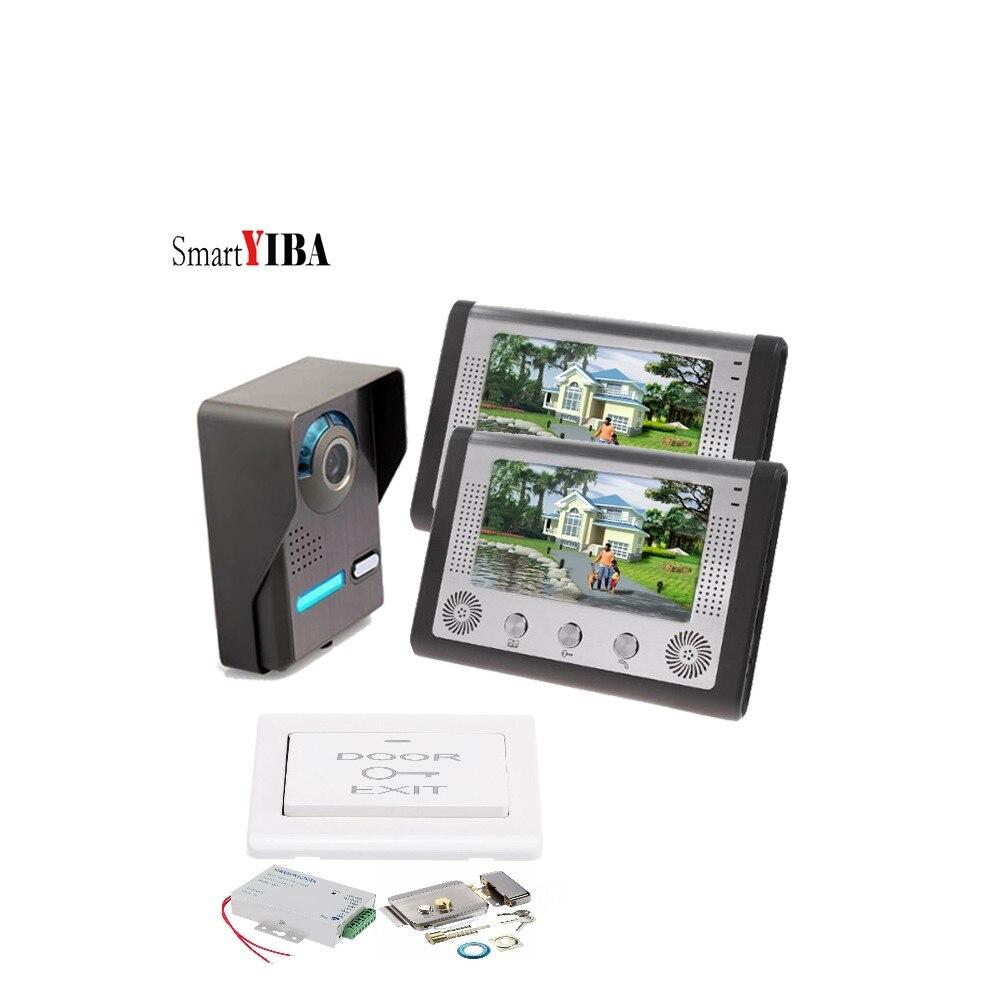 SmartYIBA Smart Door Lock 7 Wired Video doorbell Door Phone intercom Access Control System Home Surveillance