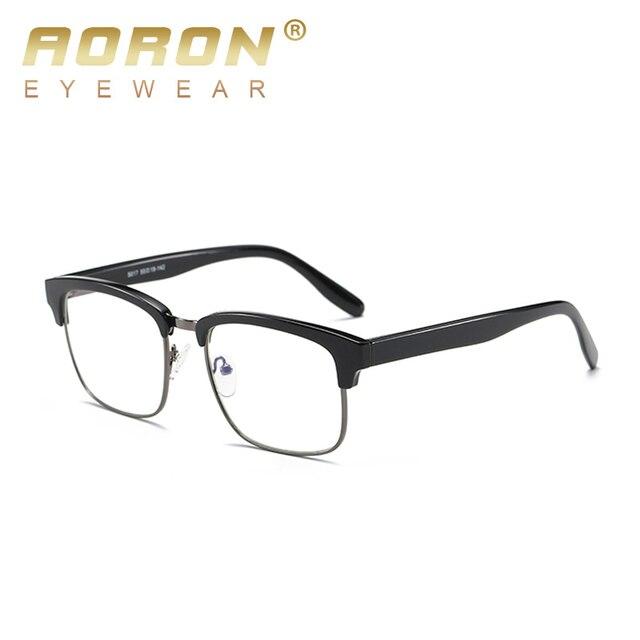 eedf8bc942c37 AORON óculos de Computador Óculos de armação de óculos Ultra light Tr90 blu  ray lente anti