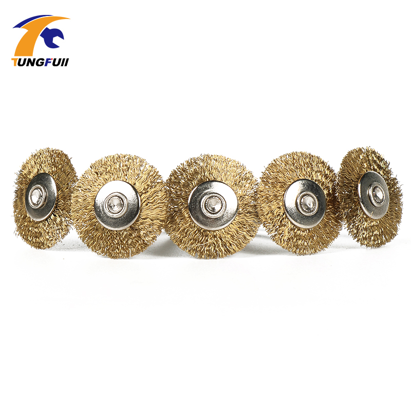 5Pcs Dremel Accessories 25mm Polishing Brush Wire Wheel Brushes for Drill Rotary Tool Polishing Grinding Tools Stainless Steel 2016 new high quality 15 pcs brass wire brush brushes wheel dremel rotary tool accessories