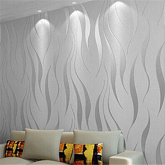 Beibehang modern simple mural wall paper roll 3d flocking for Mural 3d simple