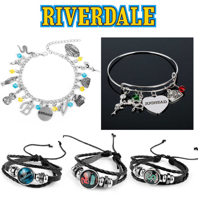 Riverdale Bangles Bracelets for Women Men a Bracelet Multilayer Leather Wristbands TV Show Collections Jewelry Female Girl Gifts