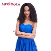 Miss Rola 14inch Synthetic Hair Extension 1pc Lot Curly Hair Weaving 100 Kanekalon Fiber Hair Machine
