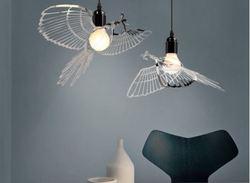 Ptak światła żyrandol z kutego żelaza badania bar restauracja mały żyrandol amerykański kreatywny żyrandol ptak