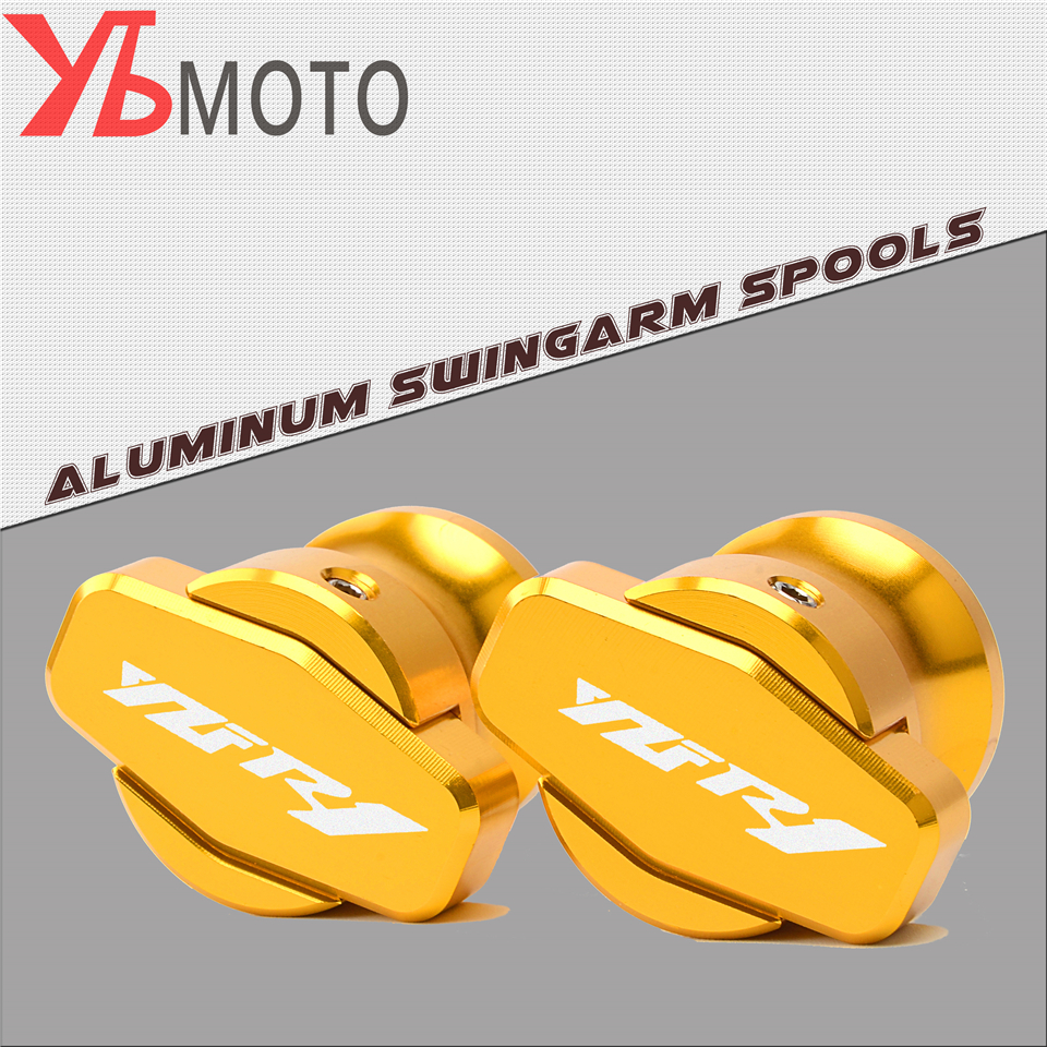 FOR YAMAHA YZF R1/R1M 1999 2000 2001 2002 2003 2004 2005 2007 2008 M6 Motorcycle accessories Swingarm Spools slider stand screws motorcycle mirrors and mounting adapter all aluminum for yamaha yzf1000 r1 2002 2003 2004 2005 2006 2007 2008 rearview mirror