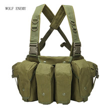 Outdoor AK 47 Magazine Carrier Combat Militaire Camouflage Tactische Vest Airsoft Ammo Borst Rig(China)