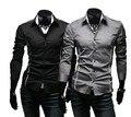 2016 nueva marca de estilo diseño camisas de alta calidad ocasionales adelgazan color con estilo apto de las camisas 3 colores tamaño : M ~ 3XL