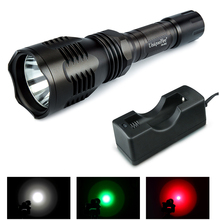 Uniquefire Portable Led Flashlight HS-802-XPE Single File 250LM Powerful Lamp Torch, Aluminum Alloy Lantern+18650 Charger