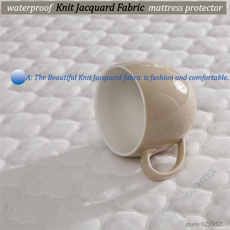100% Waterproof best selling Customized beautiful jacquard cloth waterproof mattress cover/mattress protector120x200cm A