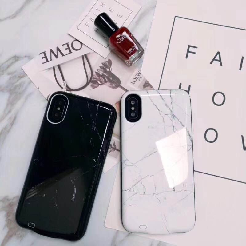 size 40 59209 e4295 US $24.39 |For iPhone X Battery marble Case 6000mAh Rechargeable External  Battery Portable Power Charger Protective Charging Case-in Fitted Cases  from ...