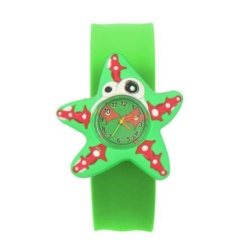 Sweet Patted Table Interesting Birthday Student Toys Children Watch Gift Cartoon Pattern Silicone Tape Wrist 3D Animal Watches Islamabad