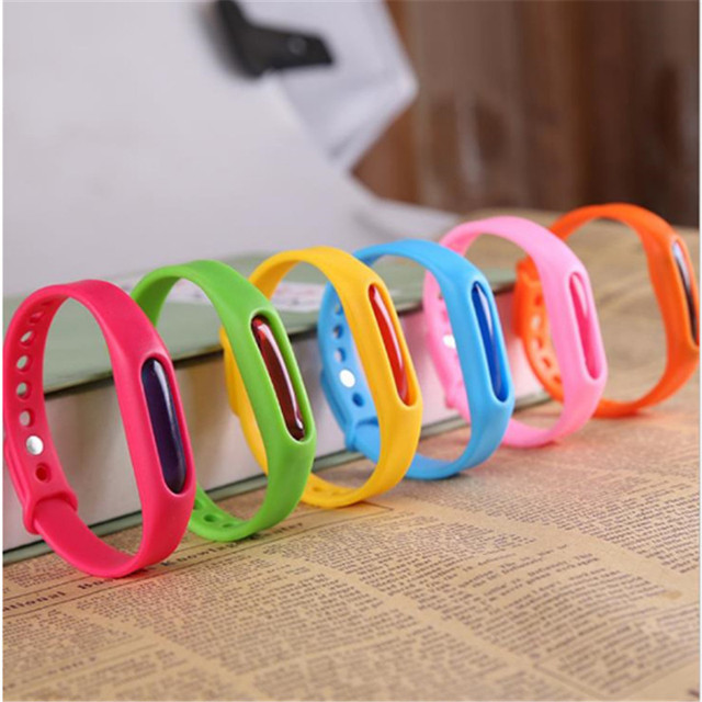 Colorful Environmental Protection Silicone Wristband Summer Mosquito Repellent Bracelet Anti-mosquito Band safe for children