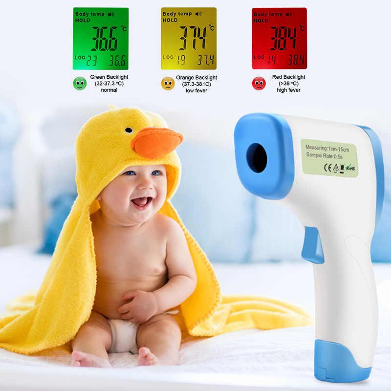 Детский цифровой двойной лазерный инфракрасный термометр Бесконтактный ИК высокой температуры пистолет тестер большой прозрачный ЖК-дисплей с тремя подсветкой