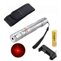 650nm 1 mw Laser Pointeurs Stylo Présentation LED Stylo Mini Faisceau Brûlant Lumière avec Rechargeable 18650 Batterie et Chargeur Universel