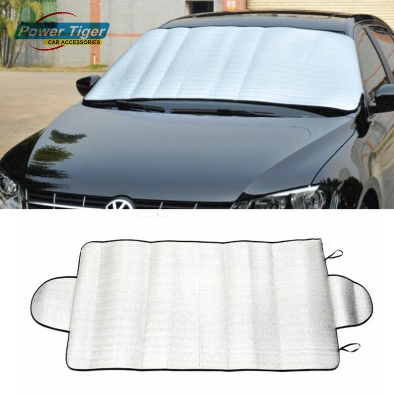 UNIVERSAL WINDSCREEN COVER PROTECTOR SUN SHINE ICE SUMMER WINTER FITS MOST CARS