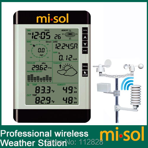 misol / Pro Wireless Weather Station with PC connection, wind speed, weather forecast wind resource assessment and forecast with artificial neural networks