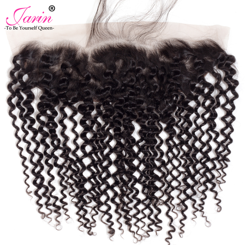 Image 5 - Peruvian Kinky Curly Hair 13x4 Lace Frontal Closure With Bundles Jarin Remy Human Hair 3 Bundles With Lace Frontal Closure-in 3/4 Bundles with Closure from Hair Extensions & Wigs