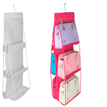 Bedroom Storage Bag  Double-sided Six-layer Handbag Multi-layer Perspective Dust-proof Sorting Hanging