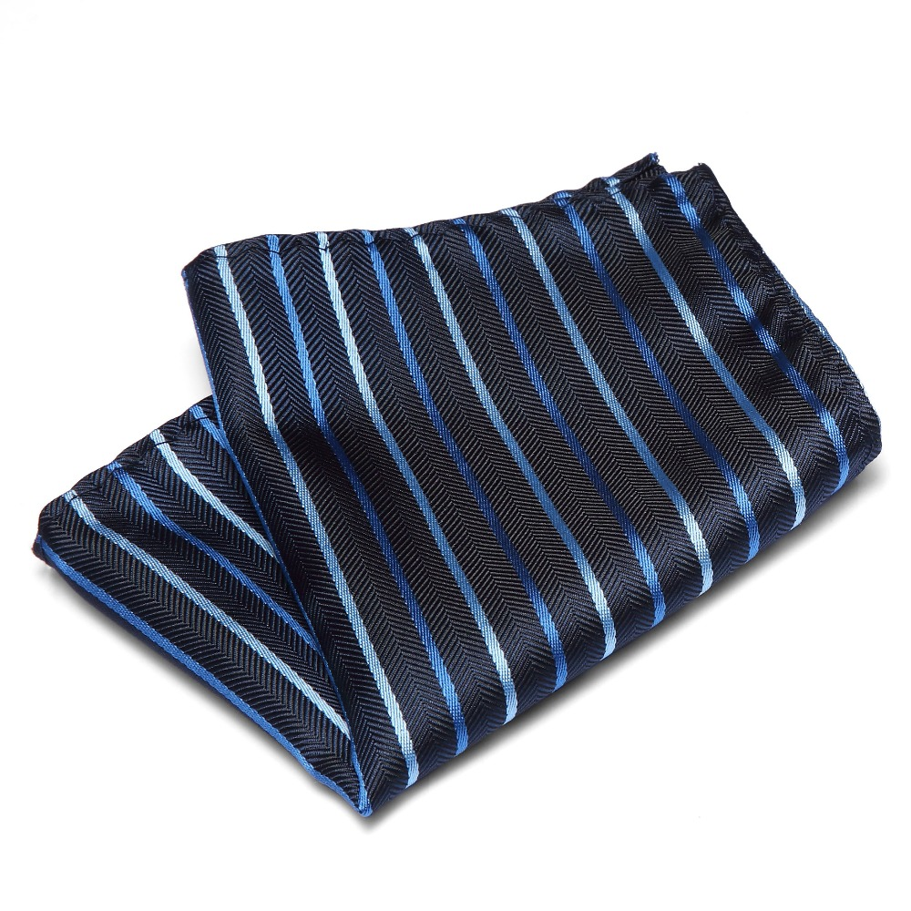 Stripes Pattern Men's Handkerchief Silk Match For Suit Tie Men Wedding Accessories Jacquard Solid Dots Pocket Square