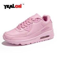 YEALON Mujeres Zapatos Corrientes de Los Hombres Zapatos Corrientes Zapatos Deportivos Zapatos Mujer de Aire Esportivo Mxing De Marca Negro Zapatillas de deporte de Las Mujeres de Color Rosa