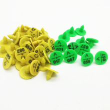 100pcs Rabbit Ear Tag Signs with The Word Ear Laser Typing Plastic Head Earrings hamster Farm Animal Identification Card