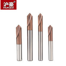 HUHAO 1PC 90 Degree Center Drill Tungsten Carbide Point Centering Positioning 45 Angle Tool Chamfer
