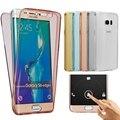 Soft Touch Дело Всего тела 360 Покрытие Крышка Для Samsung Galaxy Grand Prime A3 A5 A7 J3 J5 J7 2015 2016 S3 S4 S5 S6 S7 Нео края